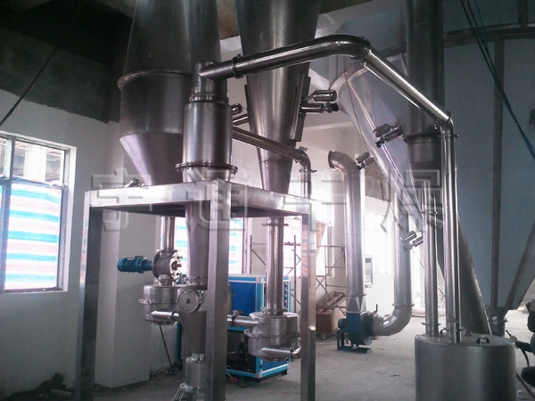 Lithium iron phosphate spray dryer